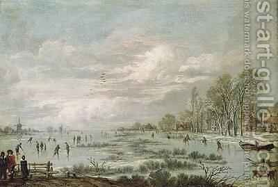 Winter Landscape 2 by Aert van der Neer - Reproduction Oil Painting