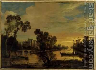 Landscape with Canal 1643 by Aert van der Neer - Reproduction Oil Painting