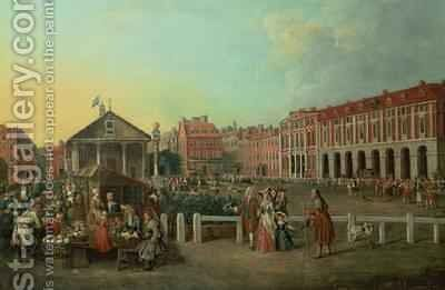 View of Covent Garden with St Pauls Church 1750 by Balthasar Nebot - Reproduction Oil Painting