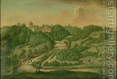 View on the River Skell at Studley Royal by Balthasar Nebot - Reproduction Oil Painting