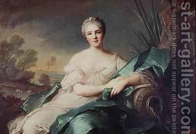 Portrait of Victoire de France as the element Water by Jean-Marc Nattier - Reproduction Oil Painting