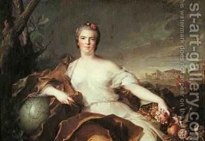 Madame LouiseElisabeth de France 1727-59 Duchess of Parma Symbolising Earth 1750 by Jean-Marc Nattier - Reproduction Oil Painting