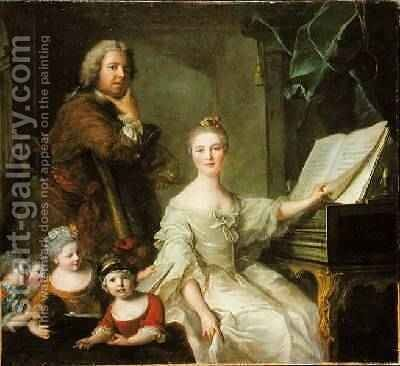 The Artist and his Family 1730-62 by Jean-Marc Nattier - Reproduction Oil Painting