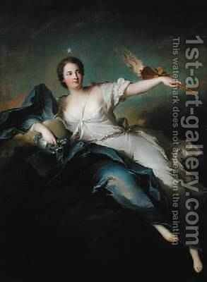 Portrait of MarieAnne de MaillyNesle 1717-44 Marquise of La Tournelle as Eos by Jean-Marc Nattier - Reproduction Oil Painting
