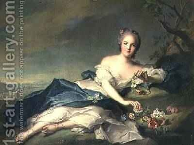 Henrietta Maria of France 1606-69 as Flora 1742 by Jean-Marc Nattier - Reproduction Oil Painting