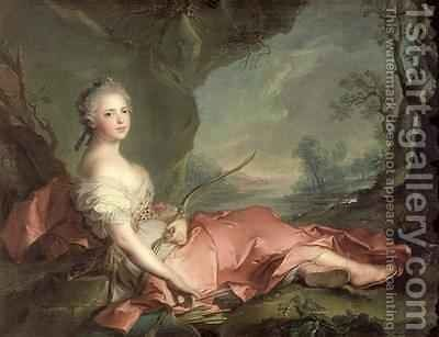 Portrait of Maria Adelaide of France by Jean-Marc Nattier - Reproduction Oil Painting