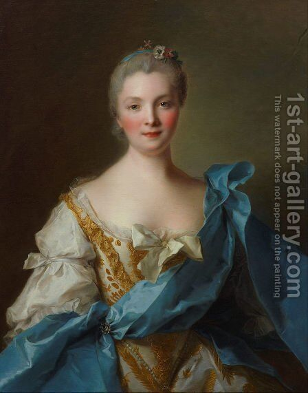 Madame de la Porte by Jean-Marc Nattier - Reproduction Oil Painting