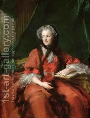 Portrait of Madame Maria Leszczynska 1703-68 1748 by Jean-Marc Nattier - Reproduction Oil Painting
