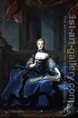 A Portrait of Marie Adelaide 1759-1802 Daughter of Louis XV by Jean-Marc Nattier - Reproduction Oil Painting