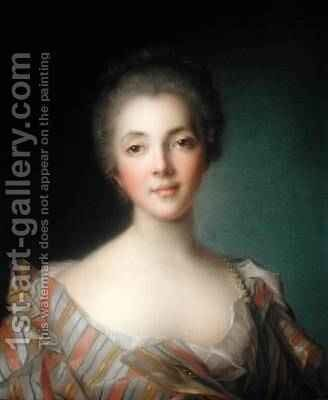 Portrait of Madame Dupin 1706-95 by Jean-Marc Nattier - Reproduction Oil Painting
