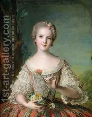 Portrait of Madame Louise de France 1737-87 at Fontevrault 1748 by Jean-Marc Nattier - Reproduction Oil Painting