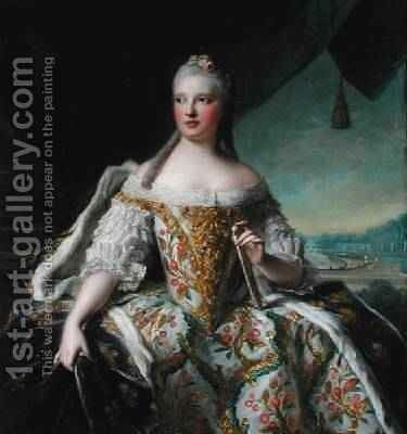 Dauphine MarieJosephe de Saxe 1731-67 by Jean-Marc Nattier - Reproduction Oil Painting
