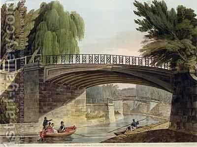 The Bridges over the Canal in Sydney Gardens from Bath Illustrated by a Series of Views by John Claude Nattes - Reproduction Oil Painting