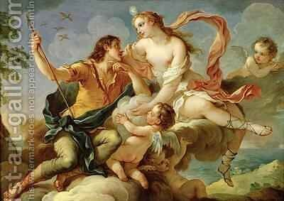 Venus and Adonis by Charles Joseph Natoire - Reproduction Oil Painting