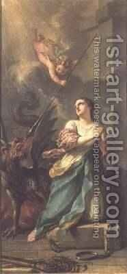 St Margaret of Antioch by Charles Joseph Natoire - Reproduction Oil Painting
