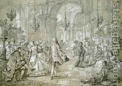 A Masquerade Ball by Charles Joseph Natoire - Reproduction Oil Painting