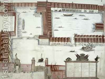 Plan of the Arsenale Venice by Antonio Natale - Reproduction Oil Painting