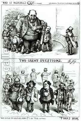 Cartoons Featuring William Marcy Boss Tweed James Ingersoll And George Miller