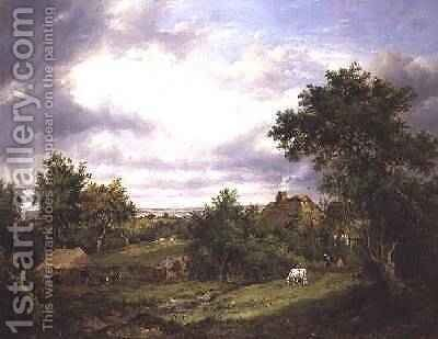 View in Hampshire by Patrick Nasmyth - Reproduction Oil Painting