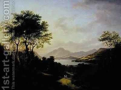 Extensive View of Loch Lomonc Near Dumbarton by Jane Nasmyth - Reproduction Oil Painting