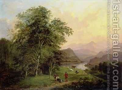 A Highland Lochside 1847 by Jane Nasmyth - Reproduction Oil Painting