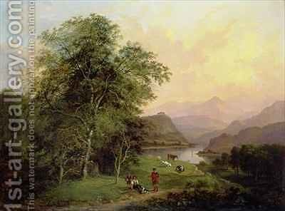 A View from Elcho Castle looking towards Ben Lawers by Charlotte Nasmyth - Reproduction Oil Painting