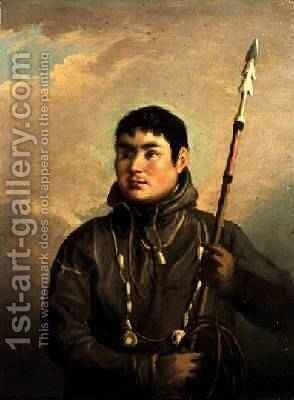 Portrait of the Eskimo Whaler John Sacheuse by Alexander Nasmyth - Reproduction Oil Painting