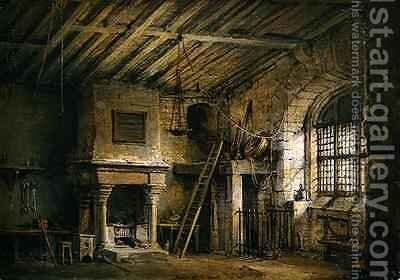 The Tolbooth stage design for The Heart of Midlothian by Alexander Nasmyth - Reproduction Oil Painting