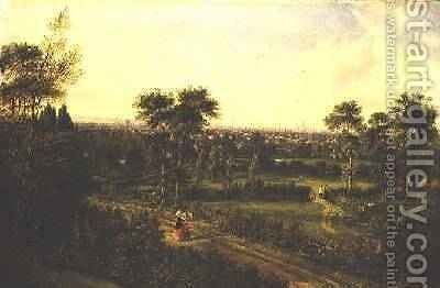 View of London from Denmark Hill by Alexander Nasmyth - Reproduction Oil Painting