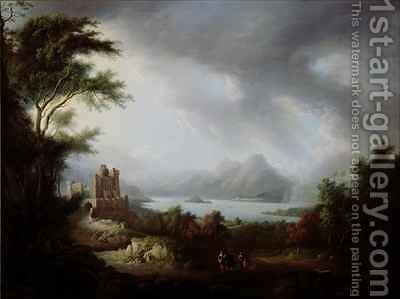 A Stormy Highland Scene by Alexander Nasmyth - Reproduction Oil Painting