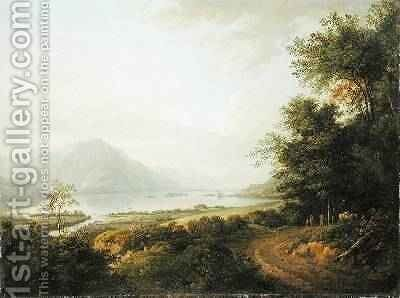 Loch Awe Argyllshire 1780-1800 by Alexander Nasmyth - Reproduction Oil Painting