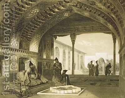 The Hall of Mirrors in the Palace of the Sardar of Yerevan Armenia by Celestin Francois Nanteuil - Reproduction Oil Painting