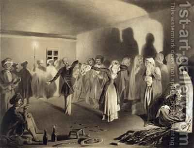 Dancing Party at KaghaChoura Dagestan by Celestin Francois Nanteuil - Reproduction Oil Painting