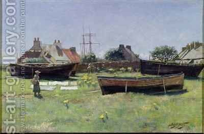 View of Corrie on Arran 1887 by James McLachlan Nairn - Reproduction Oil Painting