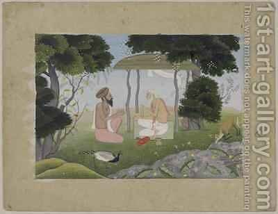 Hermitage Scene possibly from a Devi Mahatmya series by Nainsukh - Reproduction Oil Painting