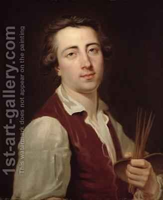 Self Portrait 1775-80 by Johann August the Younger Nahl - Reproduction Oil Painting