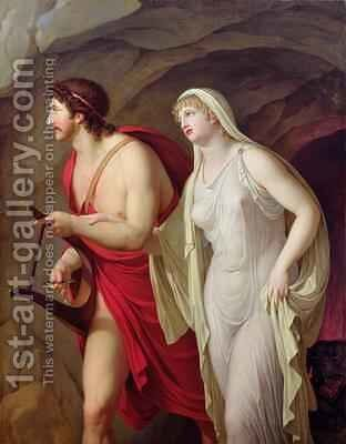 Orpheus and Eurydice 1807 by Johann August the Younger Nahl - Reproduction Oil Painting