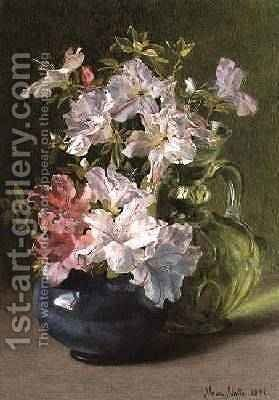 Azaleas in a Jug 4 by Maud Naftel - Reproduction Oil Painting