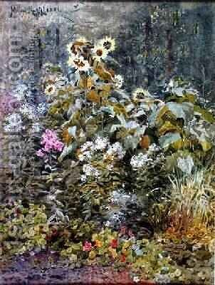 Birchs Garden Betwsycoed by Maud Naftel - Reproduction Oil Painting