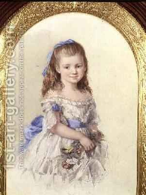 Portrait of Winifred Mary Bombass aged ten 1872 by Isabel Oakley Naftel - Reproduction Oil Painting