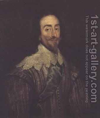 Charles I 1600-49 by Daniel Mytens - Reproduction Oil Painting