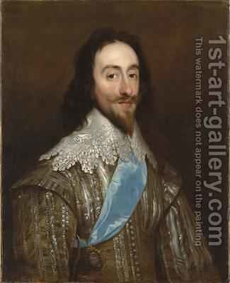 Portrait of Charles I 1632 by Daniel Mytens - Reproduction Oil Painting