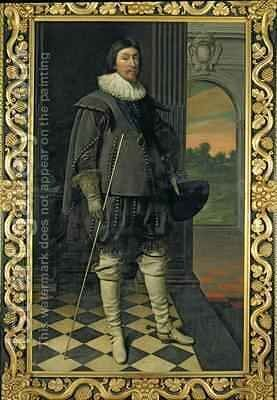 The Marquis of Hamilton 1589-1625 by Daniel Mytens - Reproduction Oil Painting