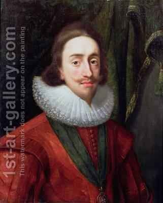 Portrait of Charles I 1600-49 1625 by Daniel Mytens - Reproduction Oil Painting