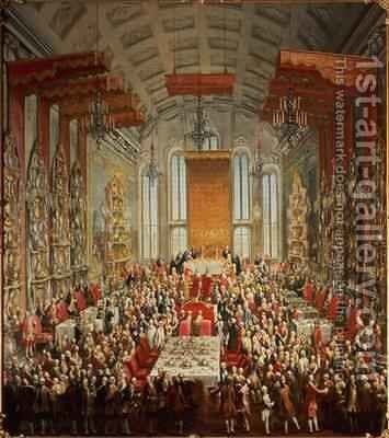 Coronation Banquet of Joseph II in Frankfurt 1764 by Martin II Mytens or Meytens - Reproduction Oil Painting