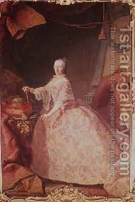 Empress Maria Theresa by Martin II Mytens or Meytens - Reproduction Oil Painting