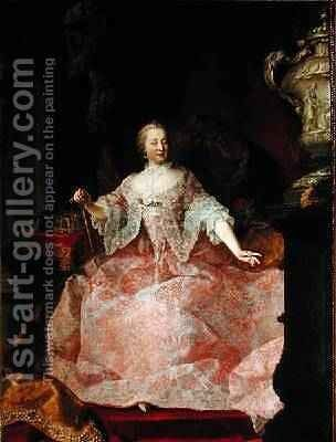 Empress Maria-Theresa 1717-80 1744 by Martin II Mytens or Meytens - Reproduction Oil Painting