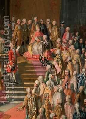 The Investiture of Joseph II 1741-90 Emperor of Germany in Frankfurt Cathedral by Martin II Mytens or Meytens - Reproduction Oil Painting