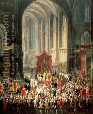 The Coronation of Joseph II 1741-90 as Emperor of Germany in Frankfurt Cathedral 1764 2 by Martin II Mytens or Meytens - Reproduction Oil Painting