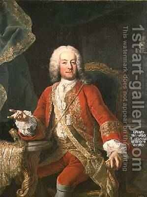 Count Carl Anton von Harrach Master Falconer and Lord Lieutenant of Austria by Martin II Mytens or Meytens - Reproduction Oil Painting